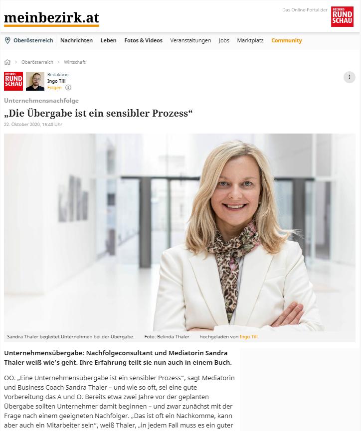 Unternehmensnachfolge - Sandra Thaler